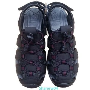 Ladies KHOMBU Ashley Sandals NWT! - Black/Purple